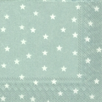 Servietten 25x25 cm - LITTLE STARS silver