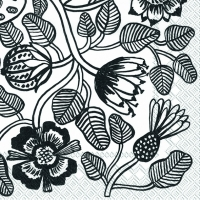 Servietten 25x25 cm - TIARA white black