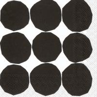 Servietten 25x25 cm - KIVET black white
