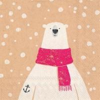 Servietten 25x25 cm - captain polar bear