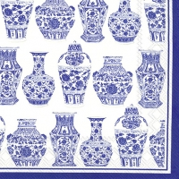 Cocktail Servietten BLUE AND WHITE URNS