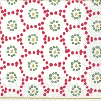 Servietten 25x25 cm - WINTER DOTTY rot