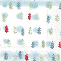 Servietten 25x25 cm - WINTER TREES light blue