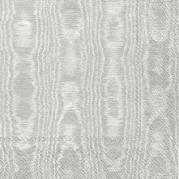 Servietten 25x25 cm - MOIREE silver