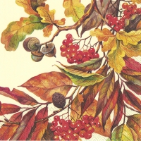 Servietten 25x25 cm - FALL COLORS cream
