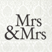 Servietten 25x25 cm - MRS & MRS black
