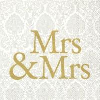 Cocktail Servietten MRS & MRS gold