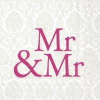 Servietten 25x25 cm - MR & MR pink