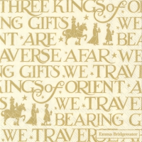 Servietten 25x25 cm - THREE KINGS gold