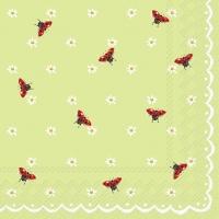 Servietten 25x25 cm - Kleine Damenvögel Minze
