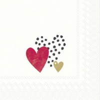 Servietten 25x25 cm - LOVE YOU goldrot