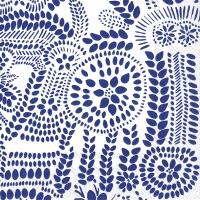 Servietten 25x25 cm - NÄSIÄ white blue