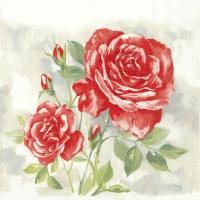 Servietten 25x25 cm - ROSE BOUTIQUE red