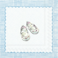 Servietten 25x25 cm - FOR MY LITTLE BABY light blue