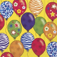 Servietten 25x25 cm - PARTY BALLOONS yellow