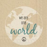 Servietten 25x25 cm - wir sind eine Welt