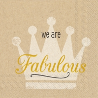 Servietten 25x25 cm - we are fabulous