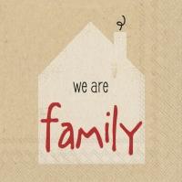 Servietten 25x25 cm - wir sind eine Familie