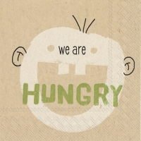 Servietten 25x25 cm - we are hungry