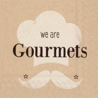 Servietten 25x25 cm - wir sind Gourmets