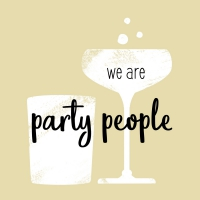 Servietten 25x25 cm - we are party people