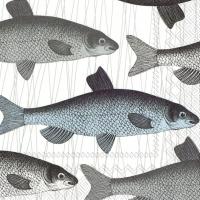 Servietten 25x25 cm - FISH DISH blue