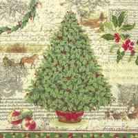 Servietten 25x25 cm - CHRISTMAS TRADITION cr. green