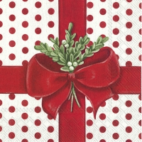 Servietten 25x25 cm - A PRESENT FOR YOU white red