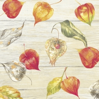 Servietten 25x25 cm - WELCOME AUTUMN cream
