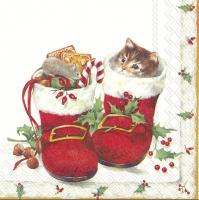 Servietten 25x25 cm - SWEET CHRISTMAS BOOTS