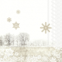 Servietten 25x25 cm - SILENT WINTER DAY linen