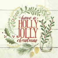 Servietten 25x25 cm - HOLLY JOLLY CHRISTMAS