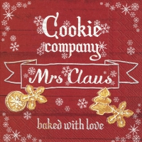 Servietten 25x25 cm - COOKIE COMPANY red