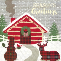 Servietten 25x25 cm - SEASONS GREETINGS