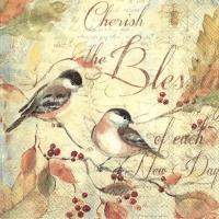 Servietten 25x25 cm - CHERISH THE BLESSINGS...