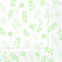 Servietten 25x25 cm - TILDA white green