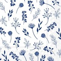Servietten 25x25 cm - TILDA white dark blue