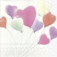 Servietten 25x25 cm - LOVE IS IN THE AIR white
