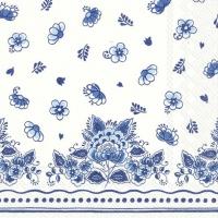 Servietten 25x25 cm - LAURA white blue