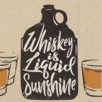 Servietten 25x25 cm - whiskey is liquid sunshine