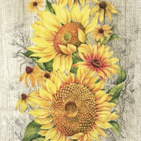 Servietten 25x25 cm - LE TOURNESOL light brown