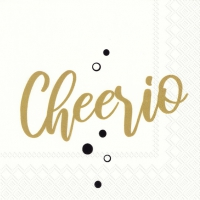 Servietten 25x25 cm - CHEERIO gold