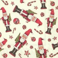 Servietten 25x25 cm - FRIENDLY CHRISTMAS TOY cream