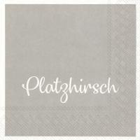 Servietten 25x25 cm - PLATZHIRSCH grey