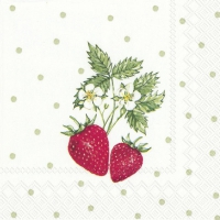 Servietten 25x25 cm - LITTLE LOVELY STRAWBERRIES