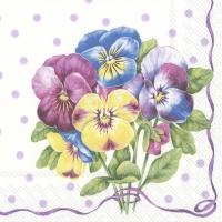 Servietten 25x25 cm - PURPLE PANSY light lilac