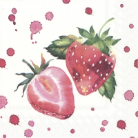 Servietten 25x25 cm - SOFT STRAWBERRIES