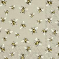 Servietten 25x25 cm - LOVELY BEES linen