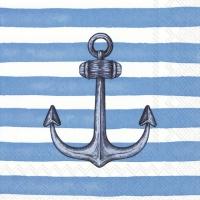 Servietten 25x25 cm - SAILOR´S ANCHOR light blue