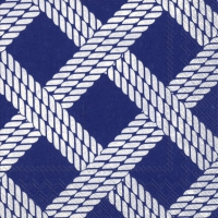 Servietten 25x25 cm - SAILOR´S ROPE blue
